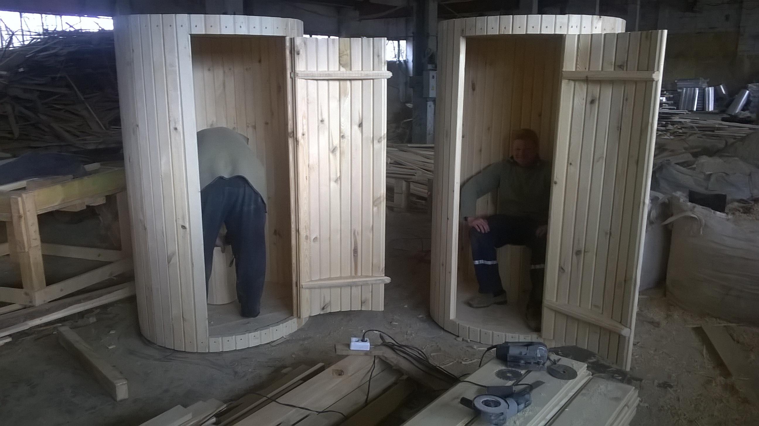 Круглый туалет своими руками 39