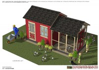 CB202 _ Combo Chicken Coop Garden Shed Plans Construction_02